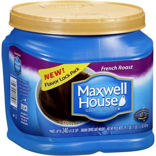 Maxwell House French Roast Medium Dark Ground Coffee, 29.3 oz