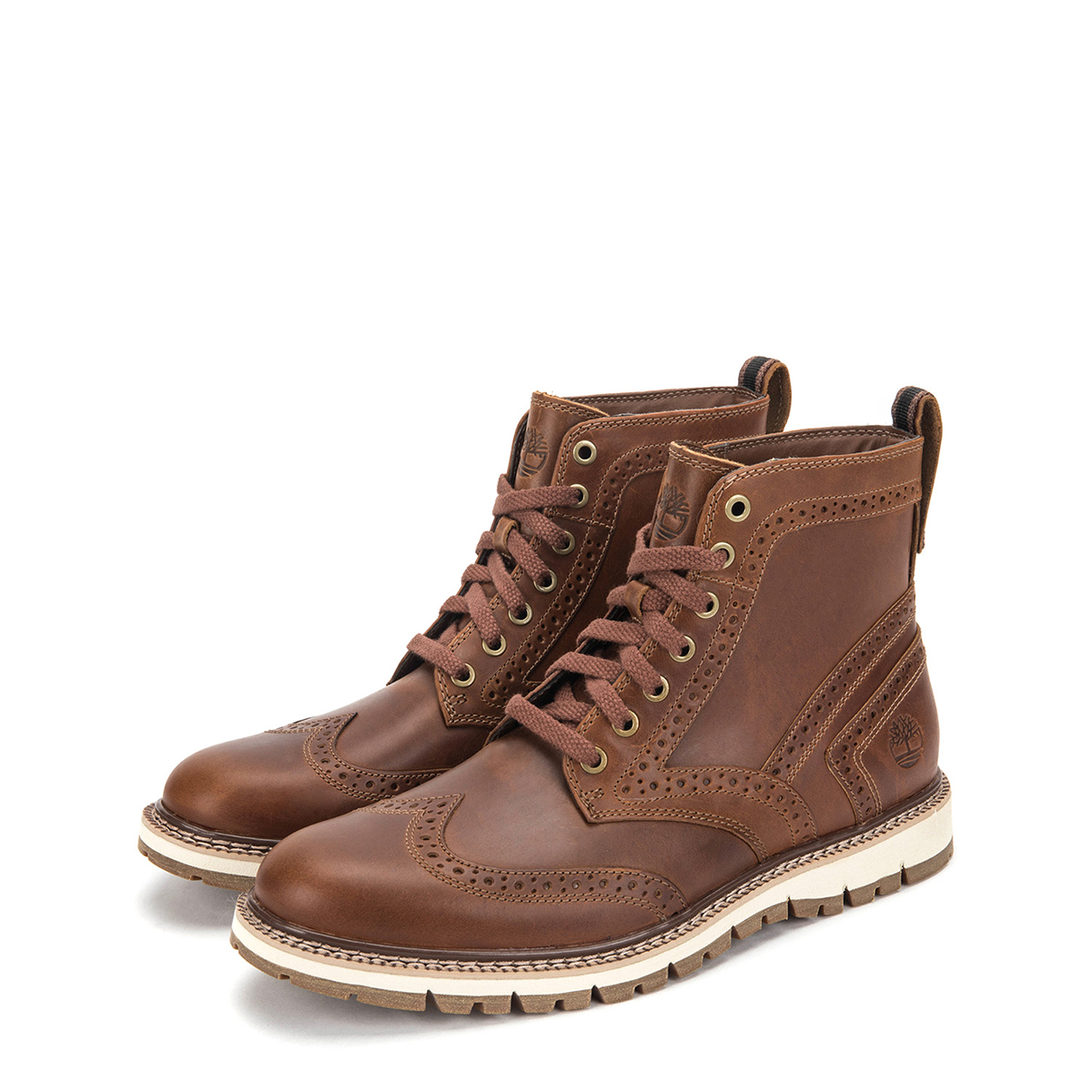 Timberland Men's Britton Hill Wingtip Boots TB0A1MH3919 Medium Brown by