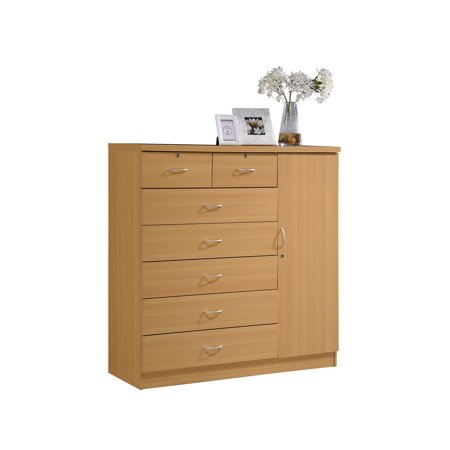 - Hodedah 7-Drawer Jumbo Dresser, Multiple Colors