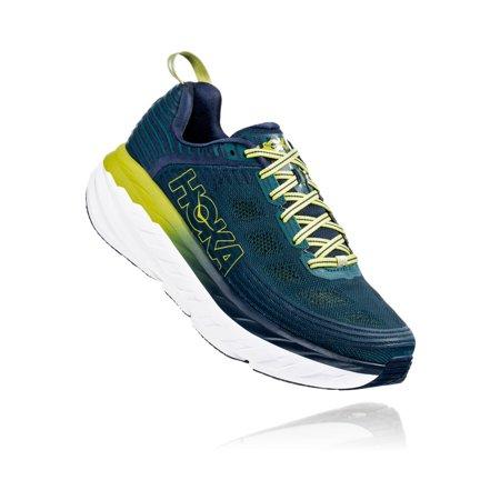 Hoka One 1019269: Men's Bondi 6 Maximinalist Running Sneakers (Deep Teal Green Oasis, 13 D(M) US