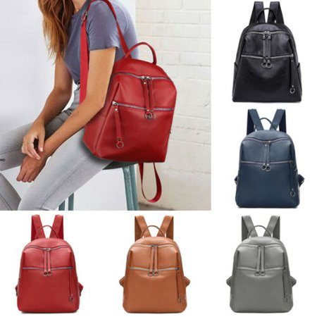 Convert Leather Backpack (Fashion Leather Backpack Women Casual Urban Travel Bags Wild School Bag)