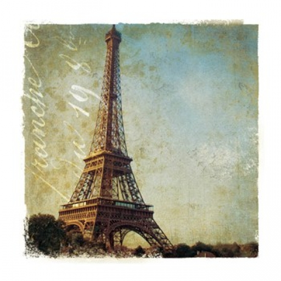 Golden Age of Paris I Poster Print by Wild Apple Photography (16 x 16)