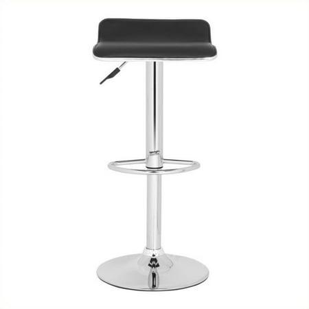 Incredible Safavieh Chaunda 22 4 30 9 Chrome Steel Bar Stool In Black Lamtechconsult Wood Chair Design Ideas Lamtechconsultcom