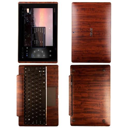 Skinomi Dark Wood Tablet Skin+Screen Protector for Asus E...