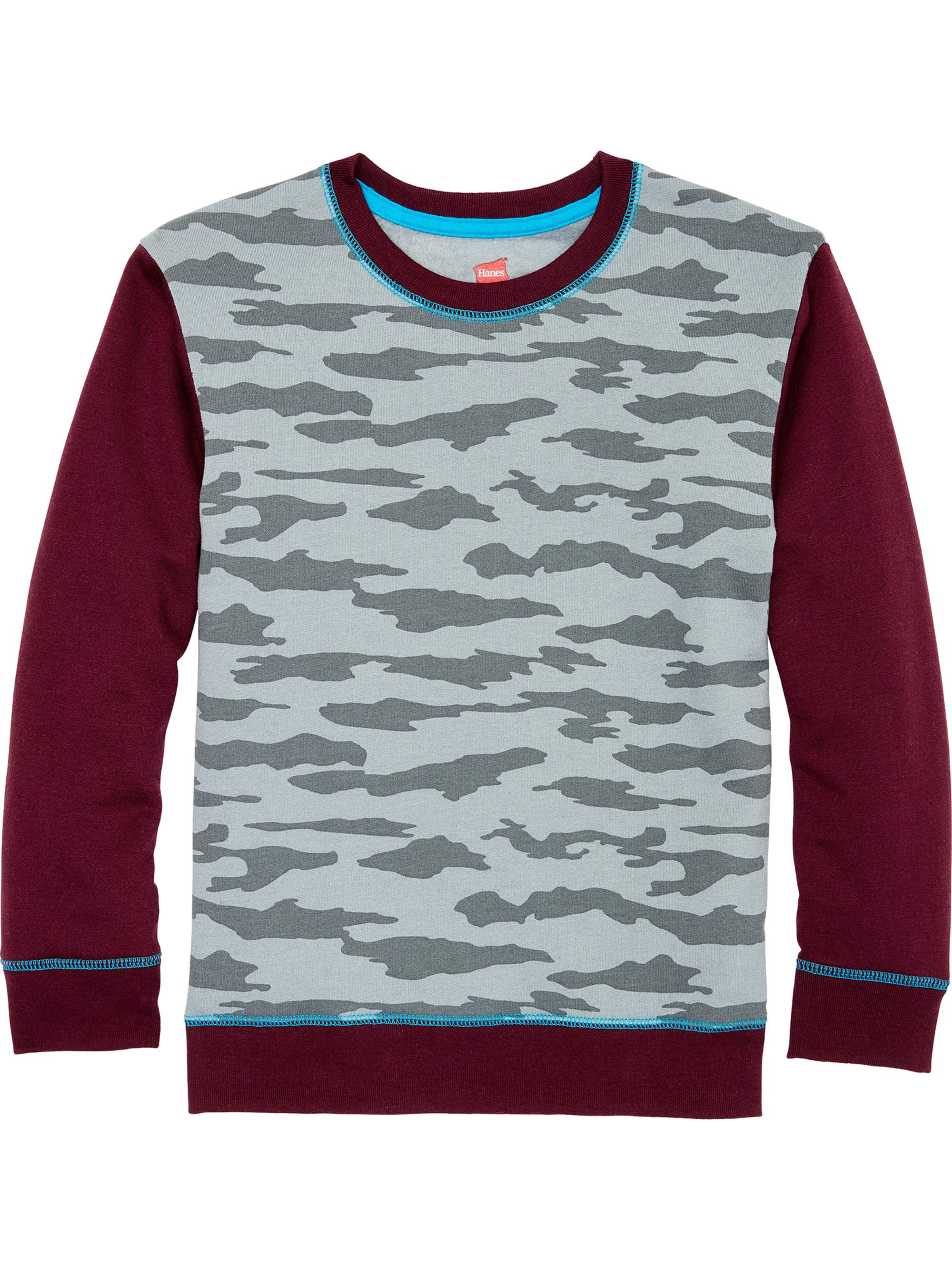 Camo Print Fleece Crew Neck Sweatshirt (Little Boys & Big Boys)