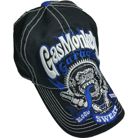 Embroidered Groom Hat - Men's Gas Monkey Washed Baseball Hat with Embroidered Bill