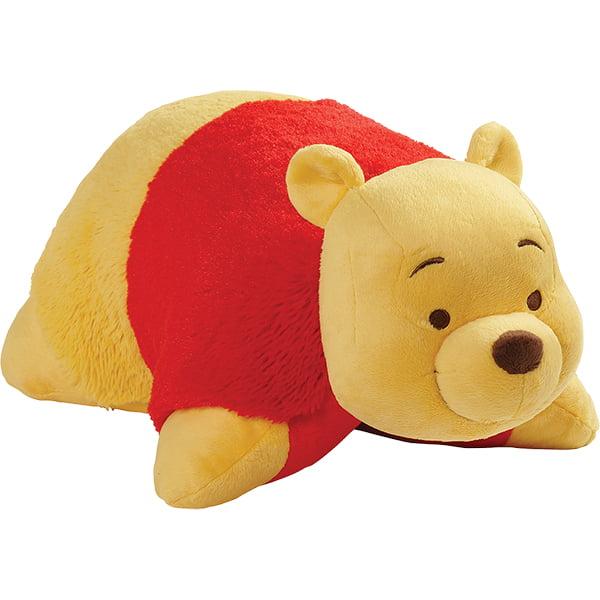 "Pillow Pets 16"" Disney Winnie the Pooh Pooh Bear Stuffed Animal Plush Toy Pillow Pet by CJ Products"