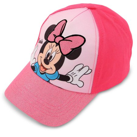 Kids Baseball Hat for Toddler Girls Ages 2-4, Minnie Mouse Basaeball Cap