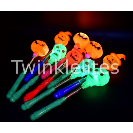 12 Halloween Light Up Sticks Party Glow Favors Costume Decoration Safety