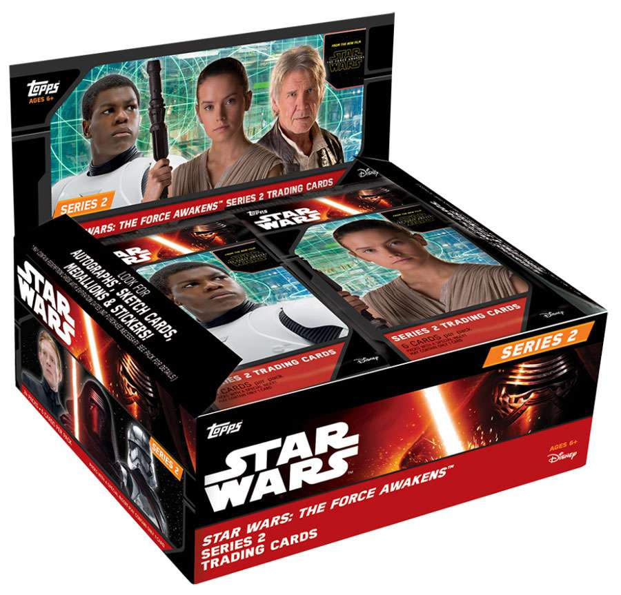 Star Wars Series 2 The Force Awakens Trading Card RETAIL Box