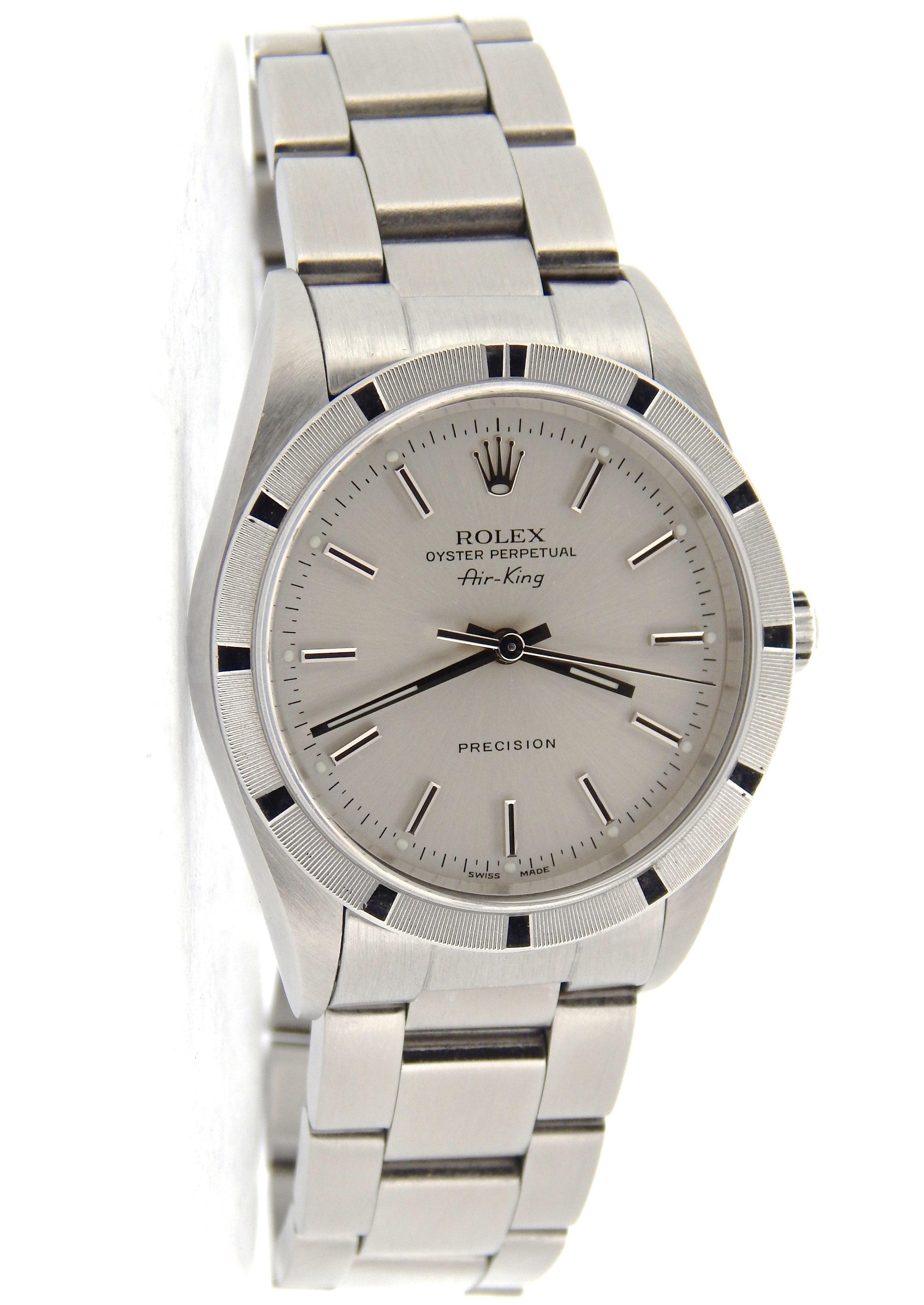 Pre-Owned Mens Rolex Stainless Steel Air-King Silver 14010 (SKU P287962NCMT)