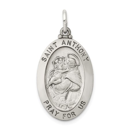 Roy Rose Jewelry Sterling Silver Antiqued Saint Anthony Medal