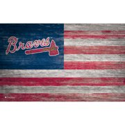 Atlanta Braves 11'' x 19'' Distressed Flag Sign - No Size