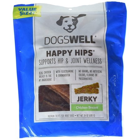 Happy Hips Chicken Breast Jerky, 24 oz., Real chicken is the #1 ingredient By Dogswell