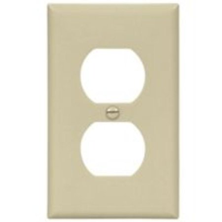 1G Ivory Duplex Plate Cooper Wiring Standard Receptacle Plates 5132V