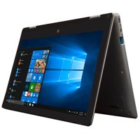 "EVOO 11.6"" Convertible Touchscreen Laptop - Elite Series, FHD, 32GB Storage, 4GB Memory, Stylus Included, Fingerprint Scanner, Micro HDMI, Front Camera, Windows 10 Home"