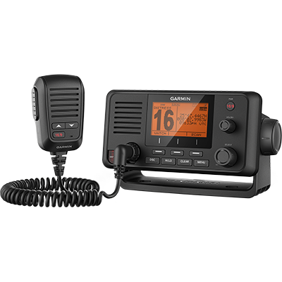 Garmin 010-01751-00 VHF 210, Marine VHF Radio, with Hailer and Detachable Microphone