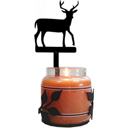 Village Wrought Iron C-LJS-3 Deer Large Jar -