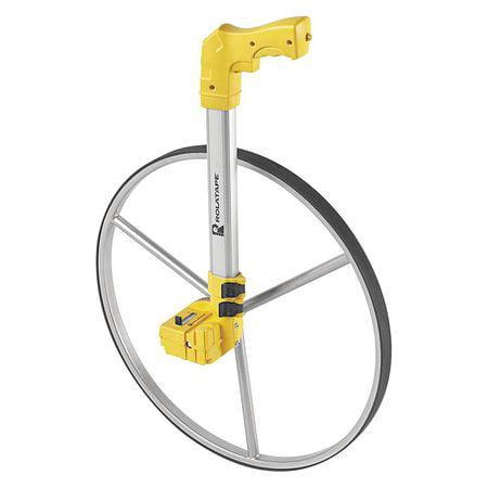 Rolatape Measuring Wheel, Single, Plastic Aluminum, Yellow, RT50 by Rolatape