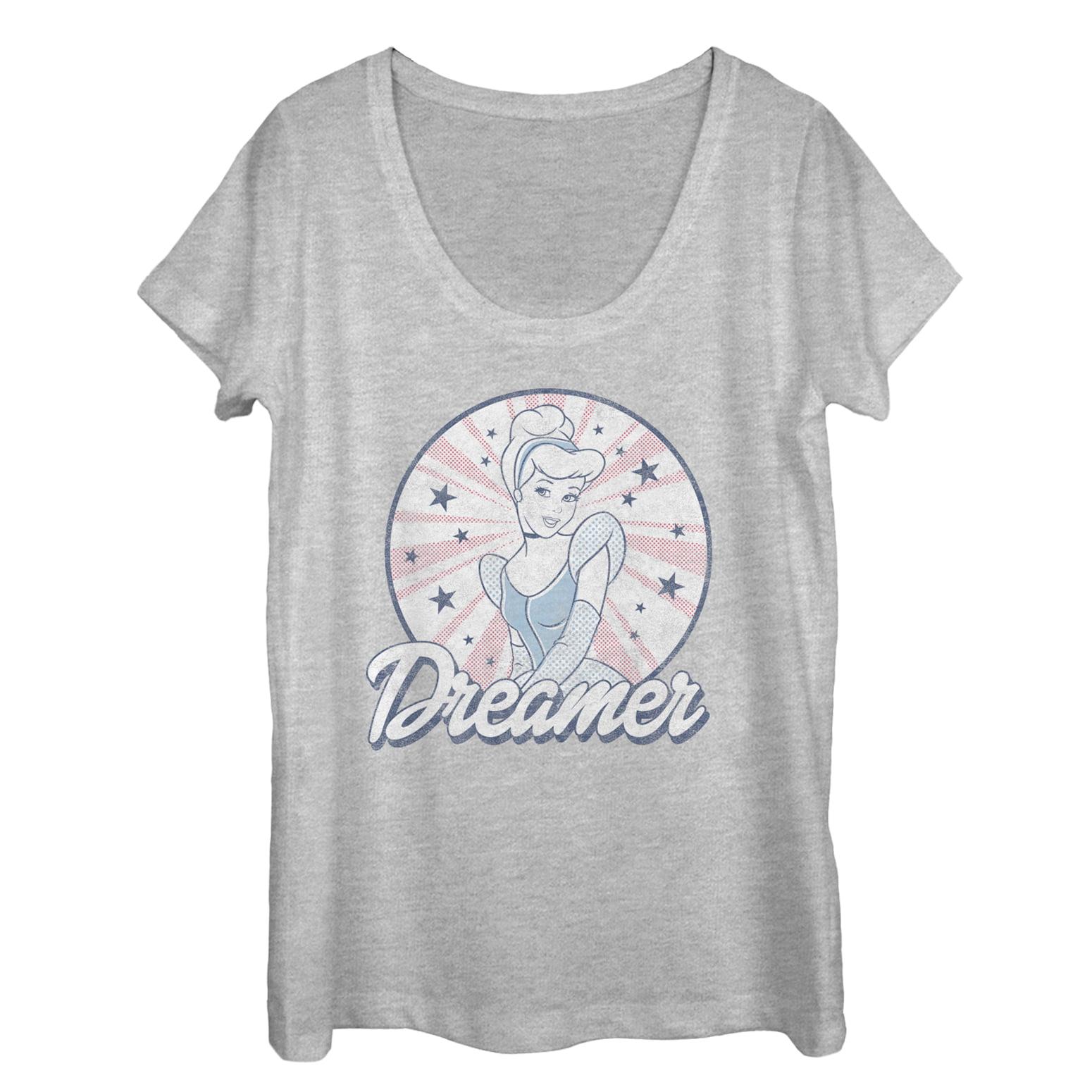 cinderella women's dreamer scoop neck t-shirt