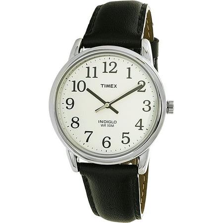 Men's Easy Reader T20501 Black Leather Quartz Dress Watch