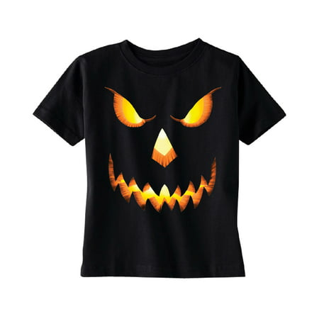 Jack O Lantern Face TODDLER T-shirt Funny Halloween 2017 Kids Black 4T (Proud Halloween 2017)