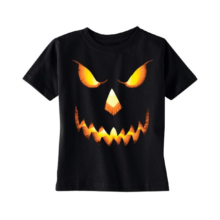 Jack O Lantern Face TODDLER T-shirt Funny Halloween 2017 Kids Black 4T