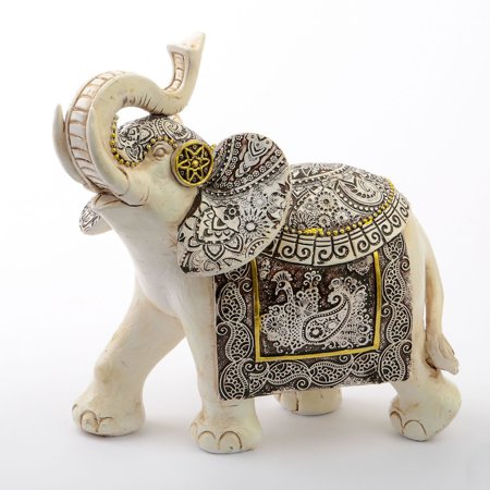 1 Ivory with Sepia accents elephants - large size