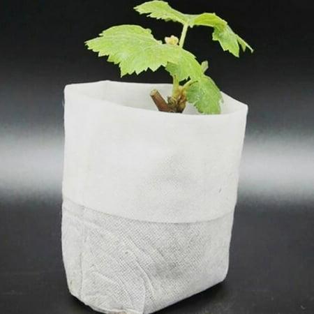 Tuscom 100Pcs Nursery Pots Seed-Raising Bags Non-woven Fabrics Garden Supply 8x10cm - Cheap Garden Supplies