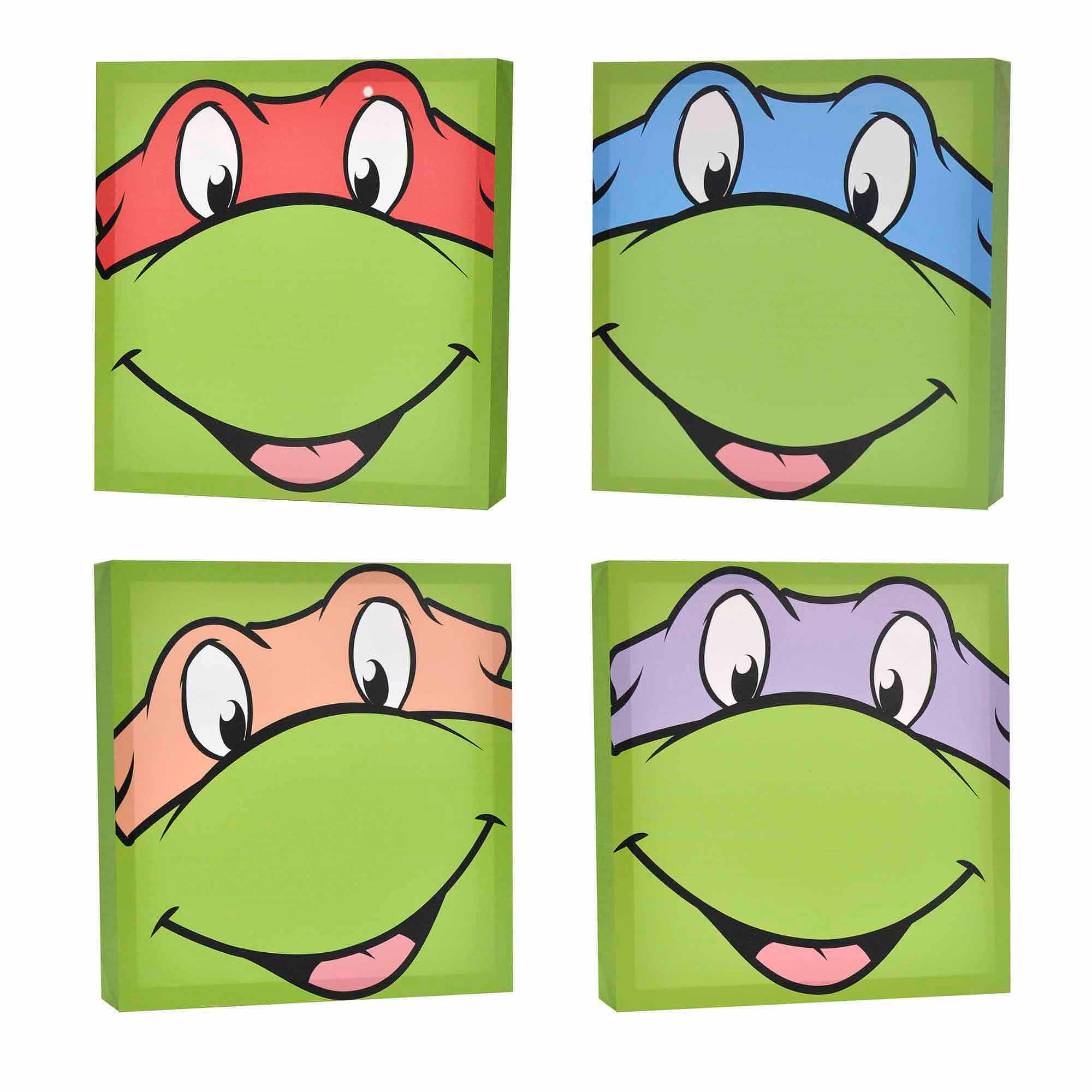 Nickelodeon Teenage Mutant Ninja Turtles 4-Pack Canvas Wall Art