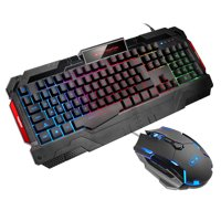 GK806 Gaming Keyboard Gaming Mouse Combo MageGee RGB LED Backlit Keyboard Wired