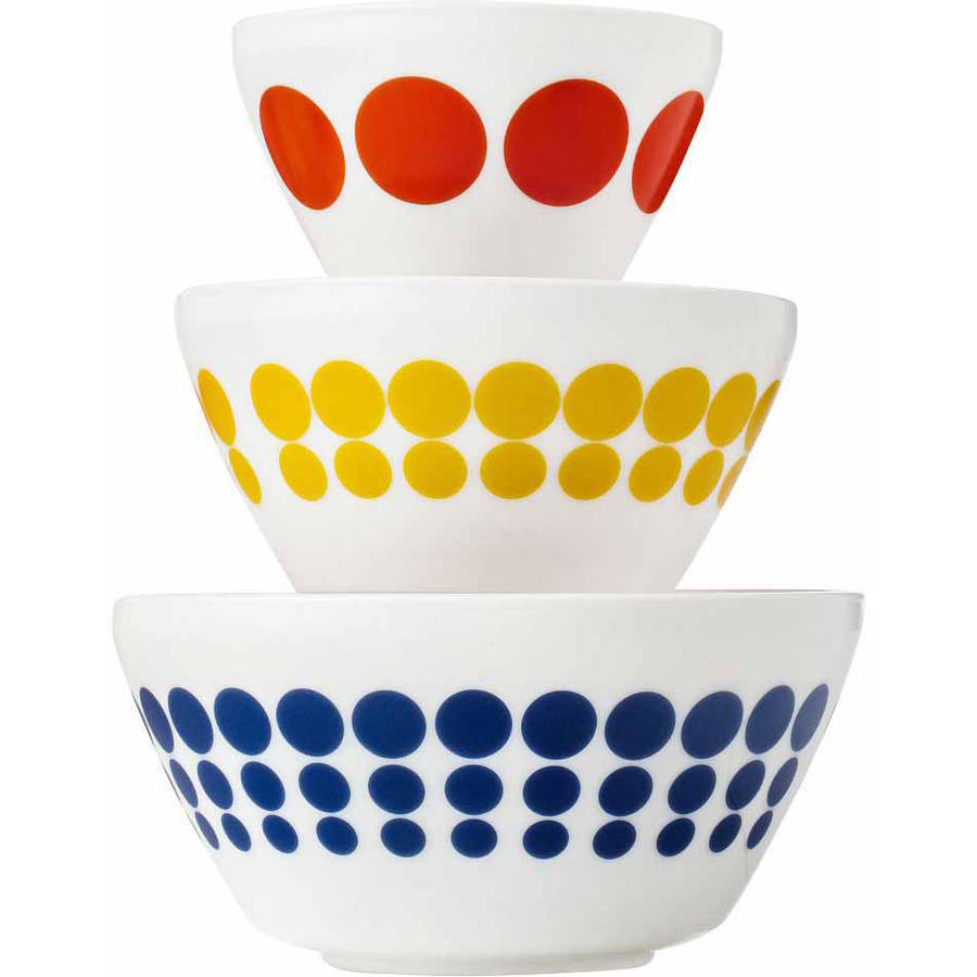 Vintage Charm Inspired by Pyrex 3-Piece Mixing Bowl Set