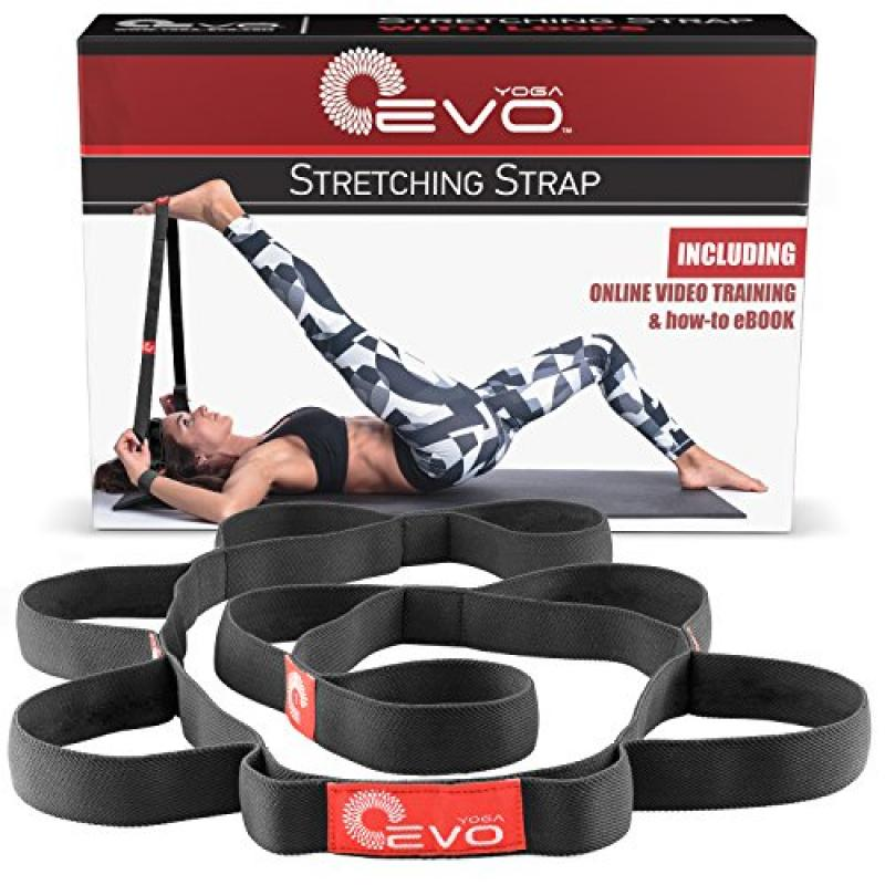 Yoga EVO Stretch Strap with Loops Used as Exercise Strap ...