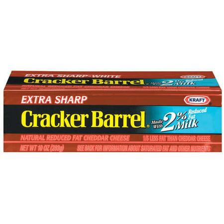 Kraft: Extra Sharp Cheddar Cracker Barrel Cheese, 10 Oz - Walmart.com