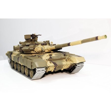 2.4Ghz Radio Control 1/16 Scale Russian T-90 Main Battle Air Soft RC Tank Smoke & Sound (Upgrade Version w/ Metal Gear &