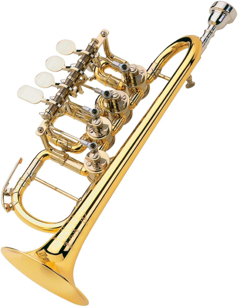 Meister Johannes Rotary Valve Piccolo Trumpet by Scherzer