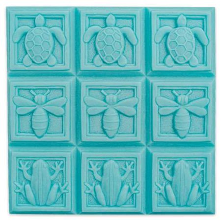 Milky Way Clear PVC Art Deco Fauna Soap Mold Tray - Makes 4 oz Bars. Melt & Pour, Cold Process