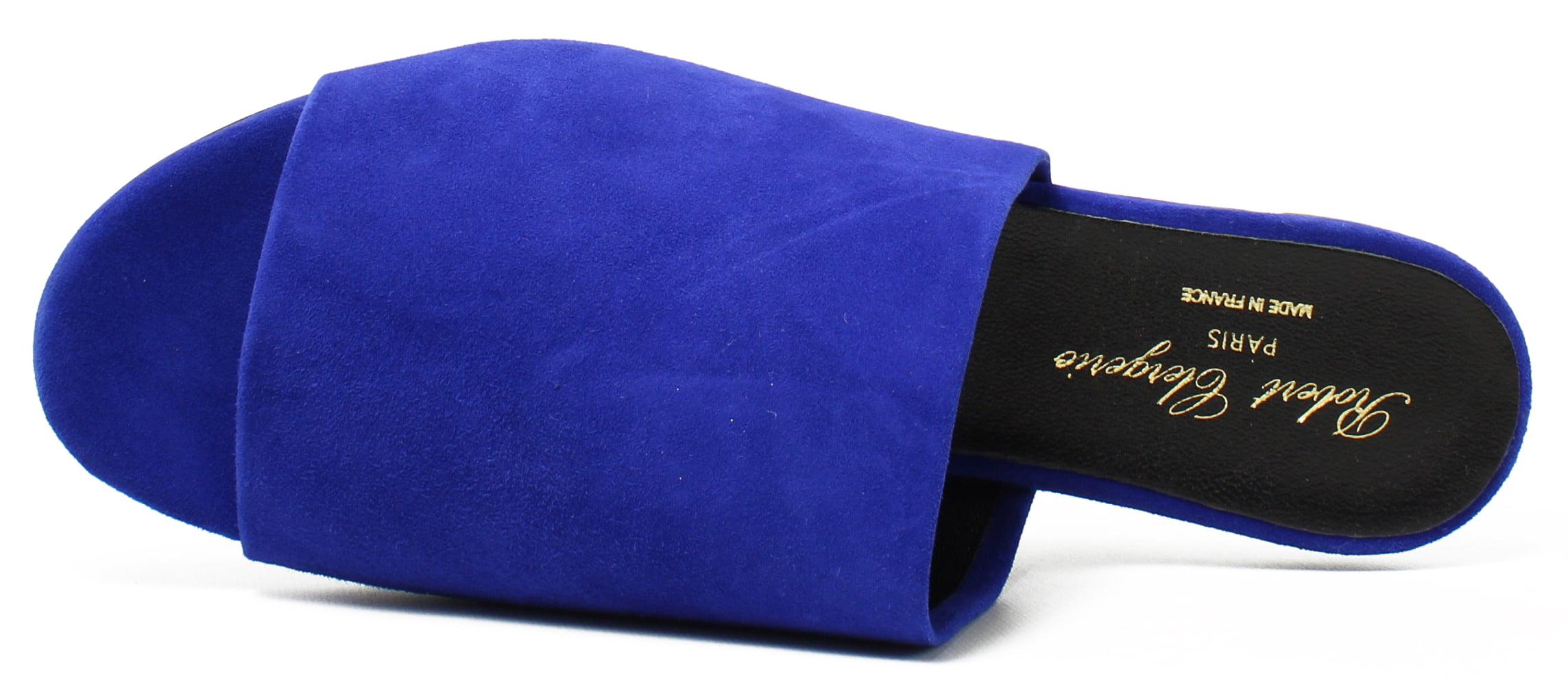 Robert Clergerie Womens  Blue Slide Flats Size 9 New