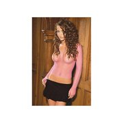 Elegant Moments Fence net long sleeve cami top 1480 Black,Hot Pink,Red,White