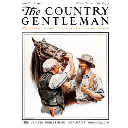 Country Gardens Magazine - Cover of Country Gentleman agricultural magazine from the early 20th century  Canvas Art - Remsberg Inc  Design Pics (26 x 34)