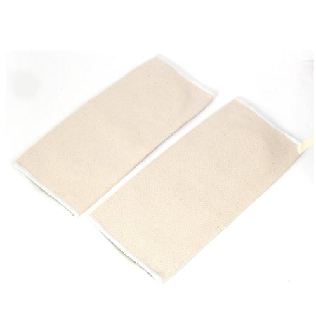 Unique Bargains Pullover Style Elastic Flat Knee Supportor Brace Protector Pad Beige Pair