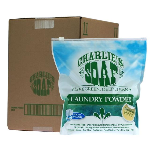 Charlies Soap 41404 Fragrance Free Laundry Powder 1200 Loads
