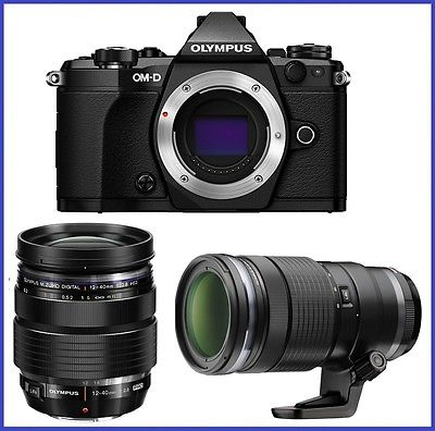 Olympus OM-D E-M5 Mark II Black Body w  12-40mm f2.8 PRO & 40-150mm PRO Lenses by Olympus