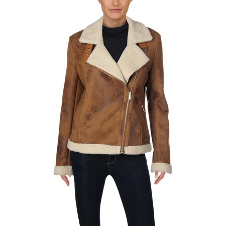 Bagatelle Womens Winter Sherpa Motorcycle Jacket