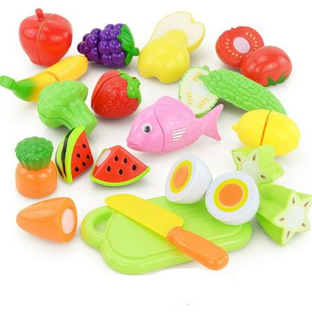 New Amusing 16PCS Cutting Fruit Vegetable Food Pretend Play Children Kid Educational Toy