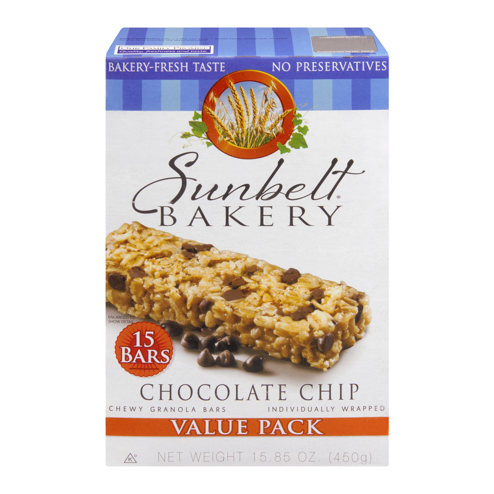Sunbelt Bakery Granola Bars Chewy Chocolate Chip Value Pack - 15 CT