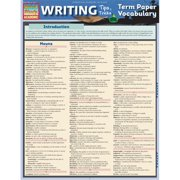 BarCharts 9781423221647 Writing Tips - Term Paper Vocabulary Quickstudy Easel