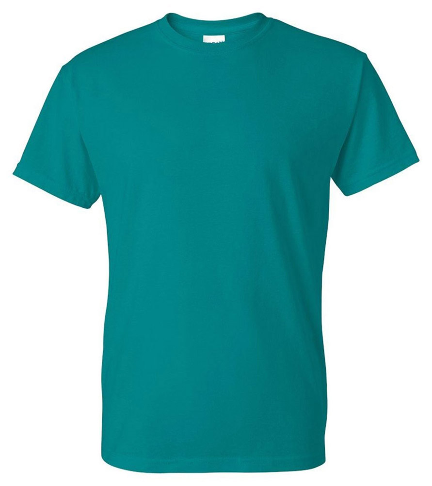 Gildan G8000 50/% Cotton 50/% Polyester DryBlend T-Shirt Jade Dome Medium 2 Pack