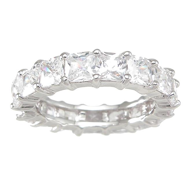 Plutus kkr6758d 925 Sterling Silver Eternity Ring Size 9