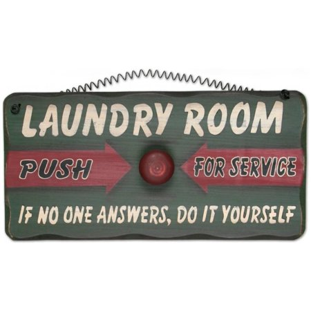 Laundry Room Wood Sign - 12x6